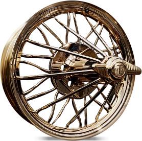 gold spoke wire wheels